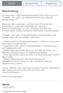 Twiddle Beschreibung im App Store
