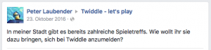 Twiddle Facebook-Kommentar