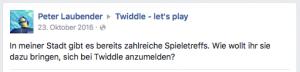 Twiddle Facebook-Kommentar